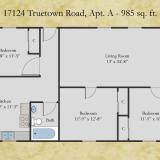 17124 Truetown, Apt A floor plan