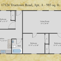 17124 Truetown, Apt A floor plan