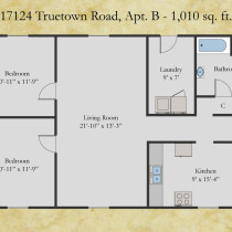 17124 Truetown, Apt B floor plan