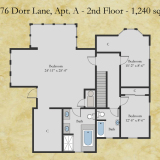10676 Dorr apt A floor plan - second floor
