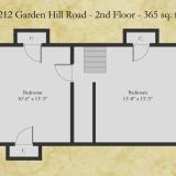 1212 Garden Hill floor plan - second floor