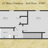 61 Main floor plan - second floor