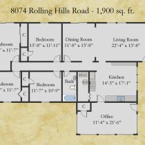 8074 Rolling Hills floor plan