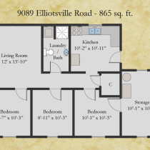 9089 Elliotsville floor plan