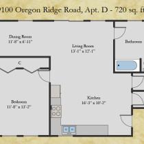 9100 Oregon Ridge floor plan