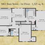 5461 State floor plan - first floor