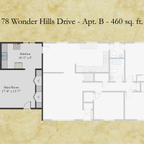 78 Wonder Hills apt B floor plan